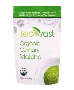 Teavast Organic Green Tea Matcha Powder Culinary Grade 4oz