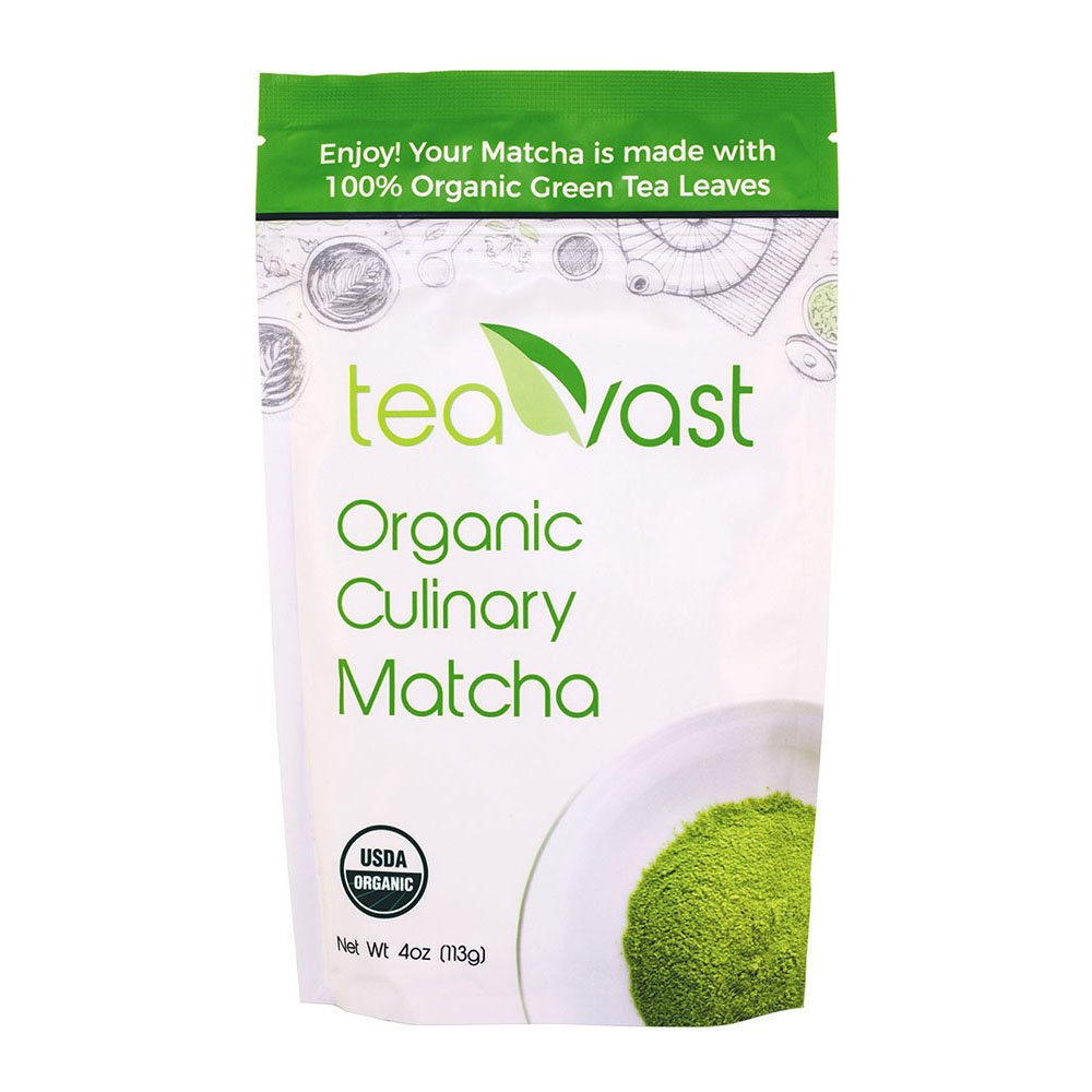 Teavast Organic Green Tea Matcha Powder Culinary Grade 4oz